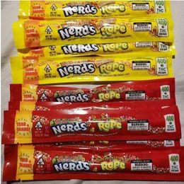rta e cigarro Desconto Nerds CORDA Embalagem Exotic Gummies Edibles saco Três de selar bordas Cheiro prova de envio Saco dos doces do pacote gratuito DHL