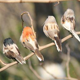 2019 adornos de jardín pájaros 12 unids Árbol de Navidad Decoración Artificial Plumas Aves Gorrión Con Clips Craft Espuma Aves Home Garden Party Decor Ornamento T190709 adornos de jardín pájaros baratos