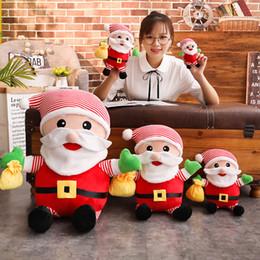 2019 куклы санта-клауса 28/35/50/80 см Мягкая плюшевая игрушка Санта-Клауса Мягкая рождественская кукла Подарок для детей дешево куклы санта-клауса