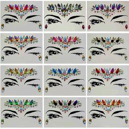 2019 padrões de tatuagem de pé Diamante Etiqueta Bohemia Estilo Glitter Tatuagem de Cristal Adesivos Para As Mulheres Face Testa Paster Decorações de Casamento 13 estilos RRA1183