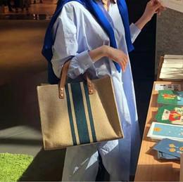 2019 sling da lona das senhoras bolsas Contraste moda um ombro da lona pendurada grande tote 2019 nova versão simples coreana do saco de mão das senhoras pasta feminino portátil sling da lona das senhoras bolsas barato