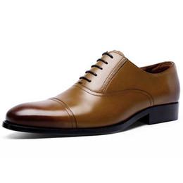 Meistverkaufte kleidschuhe online-Beste verkaufende lederne Schuhe, die Schuhe Wedding sind Goodyear-Männer der Art drei gemeinsames Hochzeitsgeschäftskleid