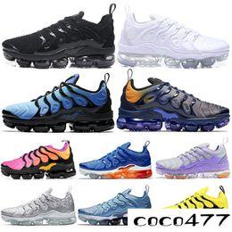2019 Olympic Plus Running Shoes Hombre Mujer STRING Trabajo Azul Zebra Bumblebee Fades Blue Betrue Deportes Zapatillas 36-45 desde fabricantes