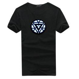 Führte leichte kleidung online-Fantastische Unisex EL kaltes Licht Kleidung T-Shirt Sound aktiviert führte T-Shirt Cosplay Light Up Down Musik Party Equalizer LED T-Shirt