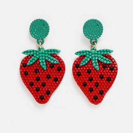 Strawberry Watermelon Fruit Fun Fashion Summer Cute Hook Dangle Drop Earrings UK