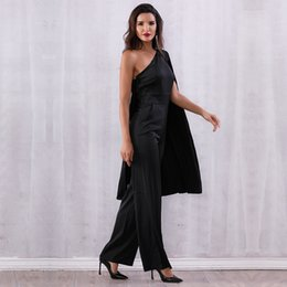 9923114cc7e Women Bandage Batwing Sleeve Jumpsuit Sexy Black One Shoulder Celebrity  Clubwear Hot Sale Office Lady Bodycon Rompers Jumpsuit celebrities  jumpsuits rompers ...