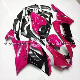 636 plastiques en Ligne-Capot de moto rose 23 couleurs + vis Pour Kawasaki Ninja ZX636 ZX-6R 07 08 ZX6R 2007-2008 zx-636 Carénage de moto en plastique ABS