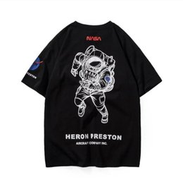 preto do estilo dos homens camiseta Desconto Mens designer de camisetas t marca de moda tee espaço de navegação tshirt estilo clássico camisola cor preto branco availiable frete grátis M-2XL