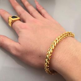 arte jóias de pressão Desconto Pulseiras de Aço Inoxidável Bangles Beads Trançado Pulseira De Trigo para Homens Mulheres Cadeia de Cor de Ouro Mens Jóias Por Atacado