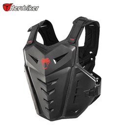 Armadura fuera de carretera online-HEROBIKER Motocross Body Armor Motocicleta Moto Moto Chaleco Off-Road Dirt Bike Armor Volver Protector de pecho, M-1007