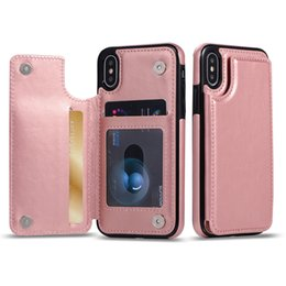 galaxy note phone wallet case leather Coupons - For iPhone X XS MAX XR 7 8 Plus Wallet Phone Case PU Leather Kickstand Card Magnetic Clasp for Samsung Galaxy S9 S10