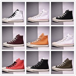 young men shoes Coupons - 2019 With Box High Cup Men Shoes Desinger Canvas Casual Sneaker Stylish For Young Boy Breathable Fashion Women Shoes Drop Shipping