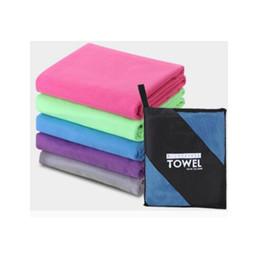Asciugamani rapidi asciugamani viaggio online-Asciugamano da viaggio in microfibra per esterni Asciugamano sportivo ad asciugatura rapida Asciugamano da bagno assorbente per il campeggio Spiaggia da viaggio 152 * 76 cm ZZA862