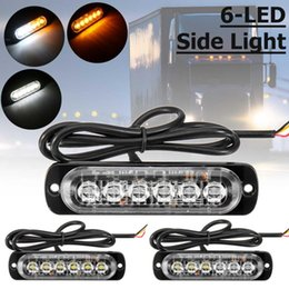 12v светодиодная лампа Скидка 12V~24V 6 Led Strobe Warning Light Grille Flashing Light bar Truck Car Lamp Anti-colisioan anti-dust Maker Signal Lamp