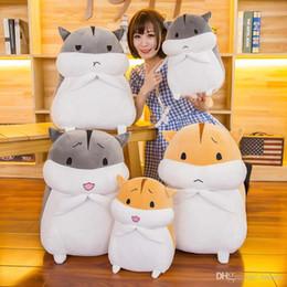 fette tiere Rabatt 2019 neue kreative Plüschtiere Fat Hamster Puppe bequeme und weiche Kuscheltiere Hamster Kissen Geburtstags-Geschenk-Großhandel