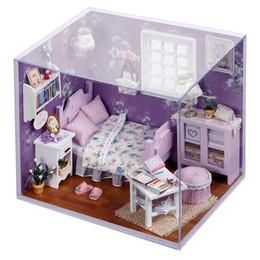 2019 miniature in legno diy Casa delle bambole in miniatura Casa delle bambole in miniatura con mobili Casa in legno per regalo di compleanno per bambini miniature in legno diy economici