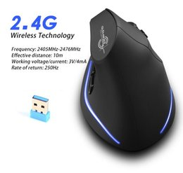 computer windows xp Sconti 2019 NEW Mouse verticale wireless di ricarica per mouse 2.4G wireless verticale 2400 DPI privato in modalità mouse