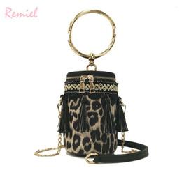 5a6cb41c0e225 Sexy Leopard Lady Metal Ring Tote Bag 2019 Fashion New Quality Pu Leather Women s  Designer Handbag Chain Shoulder Messenger Bags