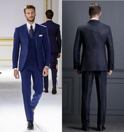58231d5e7310 vestiti fatti su misura blu navy Sconti Abiti da uomo Royal Blue Custom  Made Suit Suit