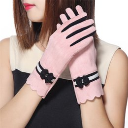 женские кожаные перчатки Скидка Women Fashion Elegant Gloves Girls Ladies Winter Warm Mitten Hand Wrist Gloves PU Leather Soft Casual Solid Glove Guantes Mujer