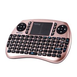 portátil pi frambuesa Rebajas Teclado inalámbrico portátil de mano Panel táctil Multimedia para TV Box Media TV PC Stick Laptop para Raspberry PI PS3 Francés Español