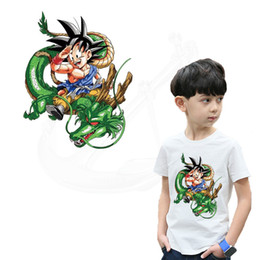 DRAGON BALL Shenron Iron on Patches per abbigliamento 25 * 20cm FAI DA TE T-shirt bambino giacca con cappuccio Grado-A adesivi trasferimento termico da vestito di modo dell'uomo fornitori