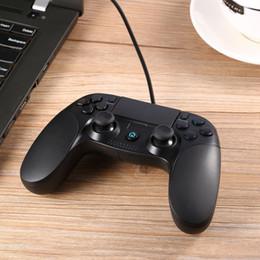 controladores personalizados Rebajas Controladores personalizados USB para gamepad con cable para PS3 PC PSVITA TV Box Android Windows (color negro, BlackBlue y negro rojo)