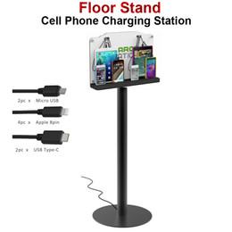 stand debout ipad Promotion VIPATEY Station de charge pour téléphone portable sur pied, kiosque à dispositifs multiples avec 8 ports pour iPhone / iPad / Samsung et plus