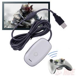Adaptador usb para xbox on-line-Venda quente preto usb 2.0 pc controlador sem fio gaming usb receiver adapter para microsoft para xbox 360 frete grátis