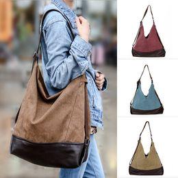 2019 saco de vagão caqui Bolsos Mujer Bolsas Feminina Bolsas De Luxo Mulheres Sacos De Designer Retro Bolsas de Ombro Lona Mulheres Casuais Grande Capacidade
