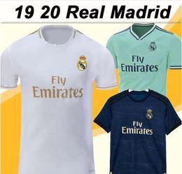 2019 2020 Real Madrid BALE Camisa De Futebol HAZARD camisa de futebol # 20 ASENSIO ISCO MARCELO madrid 19 20 uniformes de futebol de Fornecedores de spain manga longa camisa de futebol