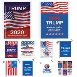 Bandiere giardino esterno online-La bandiera di Trump 2020 rende l'America di nuovo grande Bandiera delle bandiere degli Stati Uniti d'America Bandiere nel prato del patio all'aperto HH9-2221