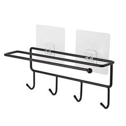 держатель кухонной посуды Скидка 2 шт висит дрель-бесплатно стойки крючки держатель хранения для ванной кухни Кухонные принадлежности FPing