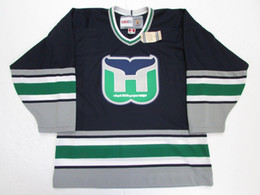 Cheap custom HARTFORD WHALERS NAVY VINTAGE CCM HOCKEY JERSEY SIZE MEDIUM  stitch add any number any name Mens Hockey Jersey XS-6XL 1a83d90e3
