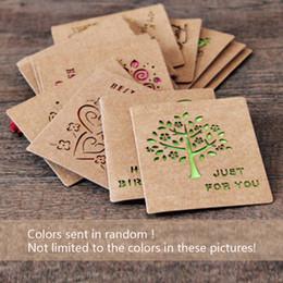 Cartão de dobramento novo on-line-5 unidades / pacote Criativo Clássico Chinês Cartão De Saudação Diy Folding Aniversário de Natal Cartão de Bênção do Dia de Ano Novo
