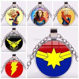 Capitán Marvel Joyas SuperHeroe The Avengers Logo Style Metal Colgante Colgante Letra A Collar Porte Clef Chaveiro Titular de la llave desde fabricantes