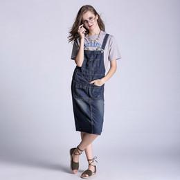 kleider plus größe jeans Rabatt S-5XL Neue Damen Jeansoverall Jeans plus Größe ärmellose Latzhose dickes Material Denim lose passende Jeans Kleid
