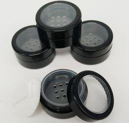 Peneira de garrafa de pó on-line-5 g 10ml de plástico transparente cosméticos Sifter Jars Maquiagem Fundação Face Powder Blush Creme Glitter recipiente Frascos Pots Com Puff Rimmed tampa