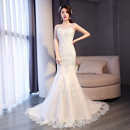 45cf265c411 Самое красивое новое свадебное платье русалки 2019 года