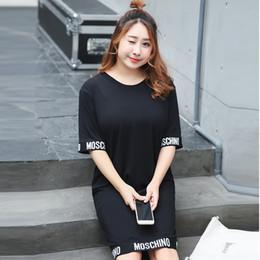 2019 платья из оливкового масла Новые письма в стиле моды лета печатных длинными рукавами женщин вскользь платья женщин vestidos 946