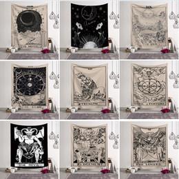 2019 decorações hippie Wall Hanging Tapestry Sorte Tarot Medieval Adivinhação Toalha de Praia Xaile Bohemian Yoga Mat Toalha de poliéster Tapeçarias Home Décor