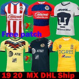 Dhl fußball trikots online-DHL Versand 2020 Mexiko Liga MX CHIVAS Guadalajara Club Amerika UNAM TIGRES 2019 Fußball Trikots 19 20 cruz azul dritten Auswärtsfußball Trikots