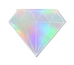 Canada ensemble de cils boîtes en forme de diamant logo personnalisé boîtes à cils faux cils de vison 3d vison faux cils bandes conteneur Offre