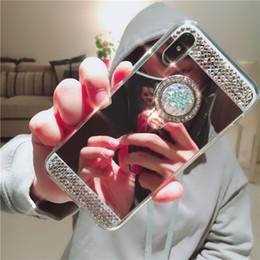 Canada Diamant Glitter Bling Doux Miroir Anneau Cas Pour iphone x xs max xr 6 7 8 plus samsung s10 s10e s9 s8 s7 plus Note 9 8 Offre