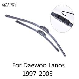 daewoo lanos Desconto Frente Wipers Lâminas de Daewoo Lanos de 1997 1998 1999 2000 2001 2002 2003 2004 2005 Acessórios Car Limpa pára-brisas