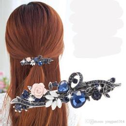 Nuovo cristallo di lusso clip di capelli Opal foglia resina fiore copricapo gioielli OL per le donne ragazze eleganti accessori per capelli barrettes da