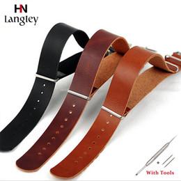 bracelets zoulous Promotion Bracelets de montre-bracelet pour hommes, femmes, montres, bracelets de montre en cuir ZULU 18 mm / 20 mm / 22 mm / 24 mm accessoires accessoires bracelet confortable