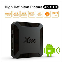 Caixa de tv inteligente android 4k on-line-Chegada Nova X96Q TV Box Android 10,0 H313 2GB 16GB Smart TV Box Quad Core 2.4G Wifi 4K Set Top Box