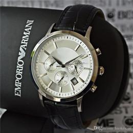 мужские watche бренд наручные часы Мужские кварцевые часы Бизнес Спорт военные часы мужчины кожа мужские часы relogio masculino от