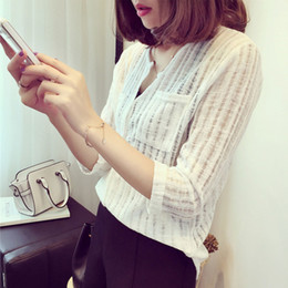 2020 хлопок льняная блуза женская Sexy Women V-neck Long Sleeve Cotton Blouse Shirt Linen Office Lady Feminine Spring Blouses Shirts 3 Colors S-3XL дешево хлопок льняная блуза женская